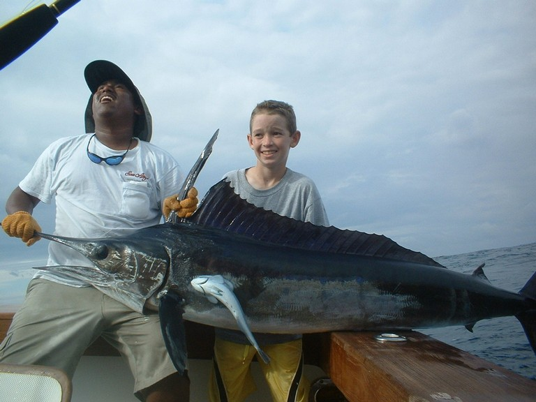 Sailfish Catch with Costa Rica Fishing Charter based out of Flamingo - Guanacaste Costa Rica - big